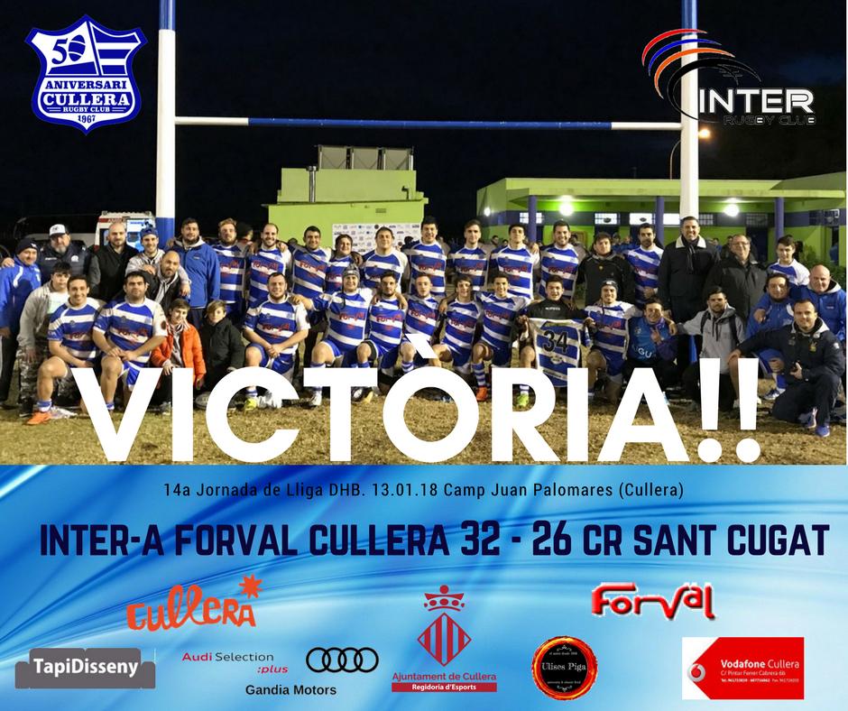 Segona victòria de l'Inter Cullera Forval RC